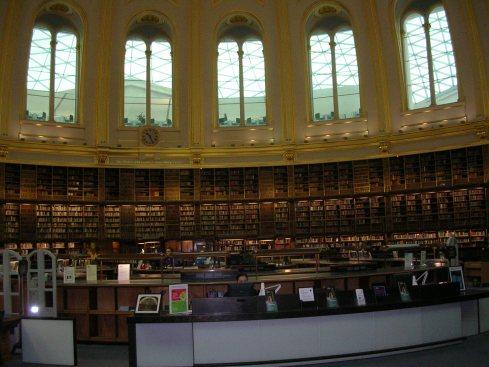 Biblioteket på British Museum januar 2005