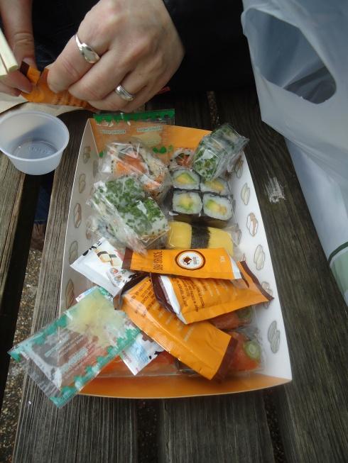 Wasabi sushi i Sankt James park:-)