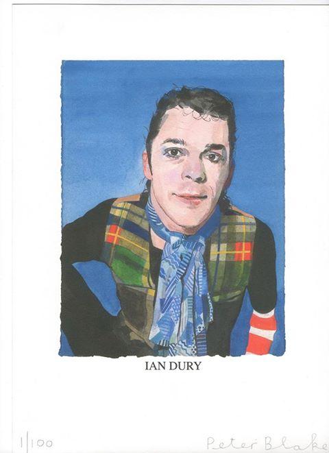 Ian Dury malet af Peter Blake