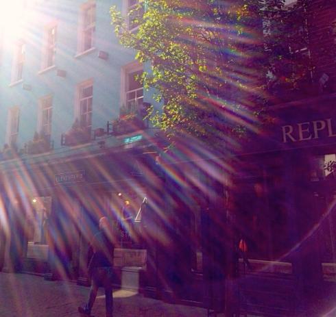Carneby Street i efterårssolen